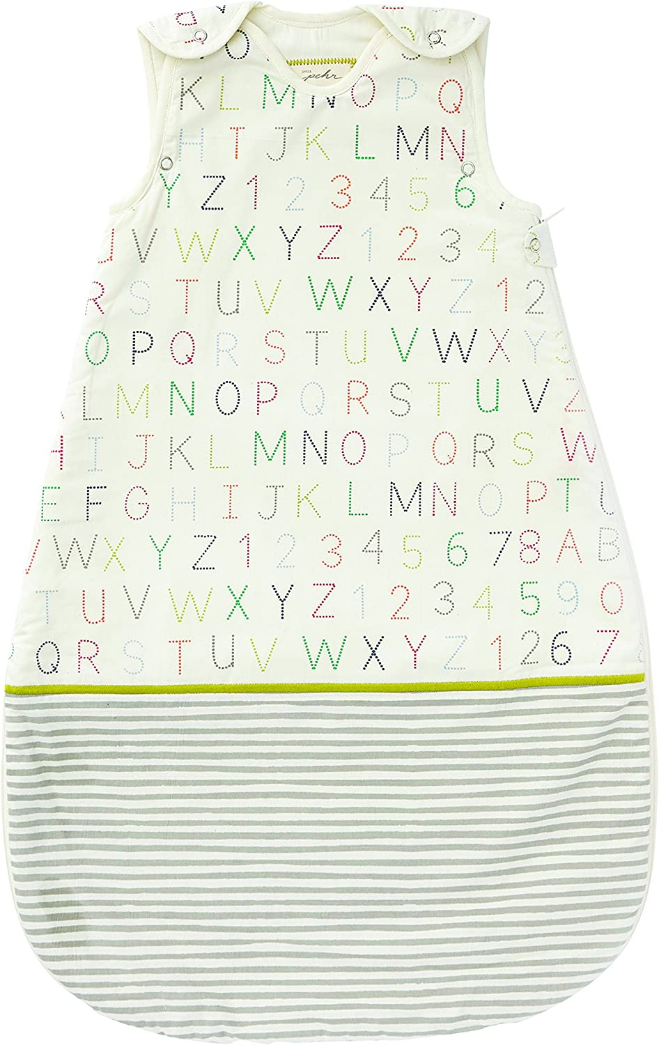 Pehr Alphabet Sleep Sack, 9-18 Months, 1.7 Tog