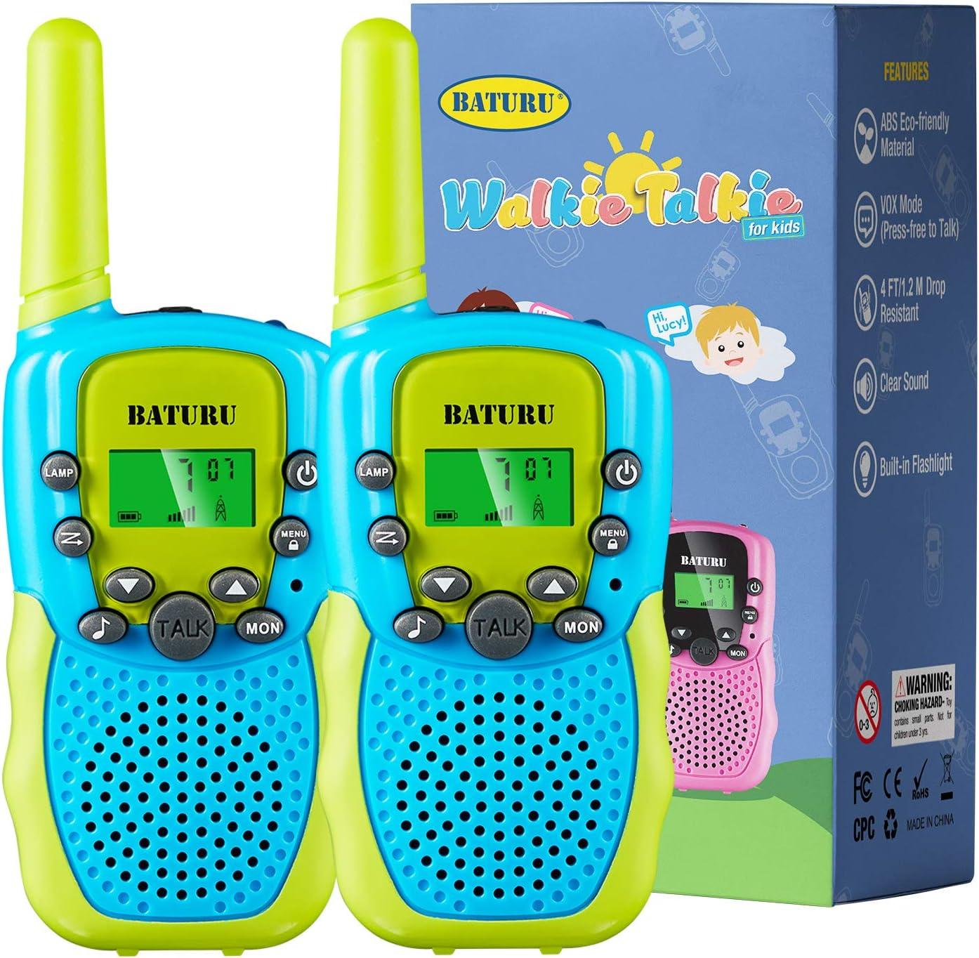 Kids Walkie Talkies 3 Pack for 5-10 Year Old Boys Girls Walkie Talkies for Kids 22 Channel 2 Way Radio