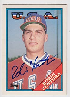 1988 Topps Traded Robin Ventura Auto Autograph Signed Rookie Rc Card #124t - JSA Certified - Baseball Slabbed Autographed Cards