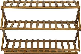 Haneez Home 3-Tier Bamboo Footwear Rack (69, 28) cms