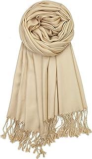 Achillea Soft Silky Solid Pashmina Shawl Wrap Scarf for Wedding Bridesmaid Dress