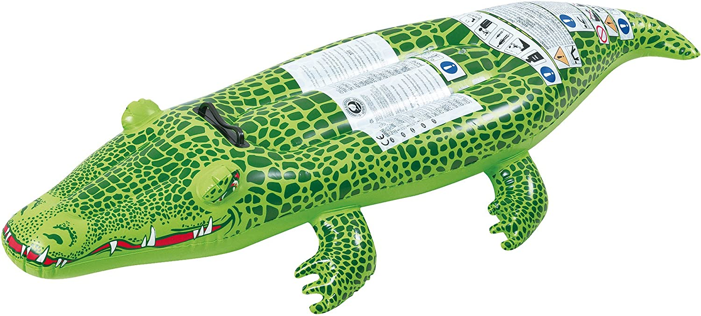 Small World Toys Active Edge - Crocodile Rider Inflatable Crocodile (6 Piece)