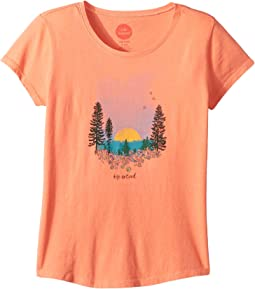 Landscape Watercolor Smiling Smooth T-Shirt (Little Kids/Big Kids)