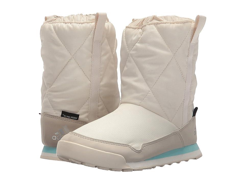 adidas Outdoor Kids CW Snowpitch Slip-On CP (Little Kid/Big Kid) (Chalk White/Clear Brown/Clear Aqua) Girl