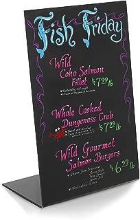 Modern Black Acrylic Tabletop Wet Erase Liquid Chalk Board/Menu Display Write-On Board/Wedding Sign