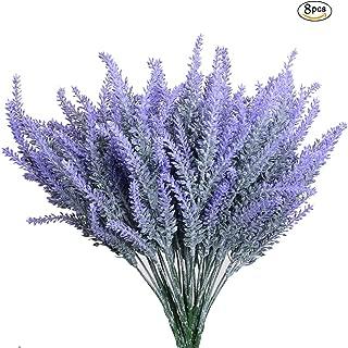 Aplstar 8pcs Artificial Lavender Bouquet in Purple Flowers DIY Floor Garden Office Bridal Home Wedding Decor