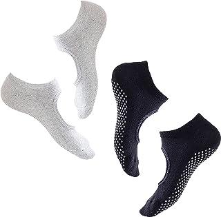 allgemein, 2 Pares Calcetines Pilates Yoga Puro AlgodóN Calcetines Antideslizantes De Suela Adherente Ballet Aptitud Artes Marciales Gimnasia