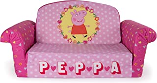 Marshmallow Furniture Children's 2 in 1 Flip Open Foam Sofa, Peppa Pig, by Spin Master