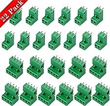 10 A 300 V Conector de Bloque de terminales de Tornillo PCB de 2 Pines 50 Unidades Color Verde 5 mm LNIEGE