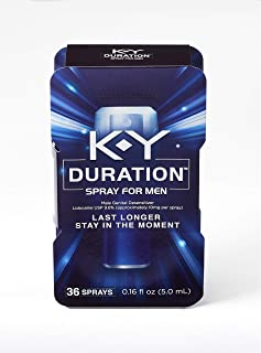 Duration Spray for Men,  K-Y – Male Genital Desensitizer Spray to last longer,..