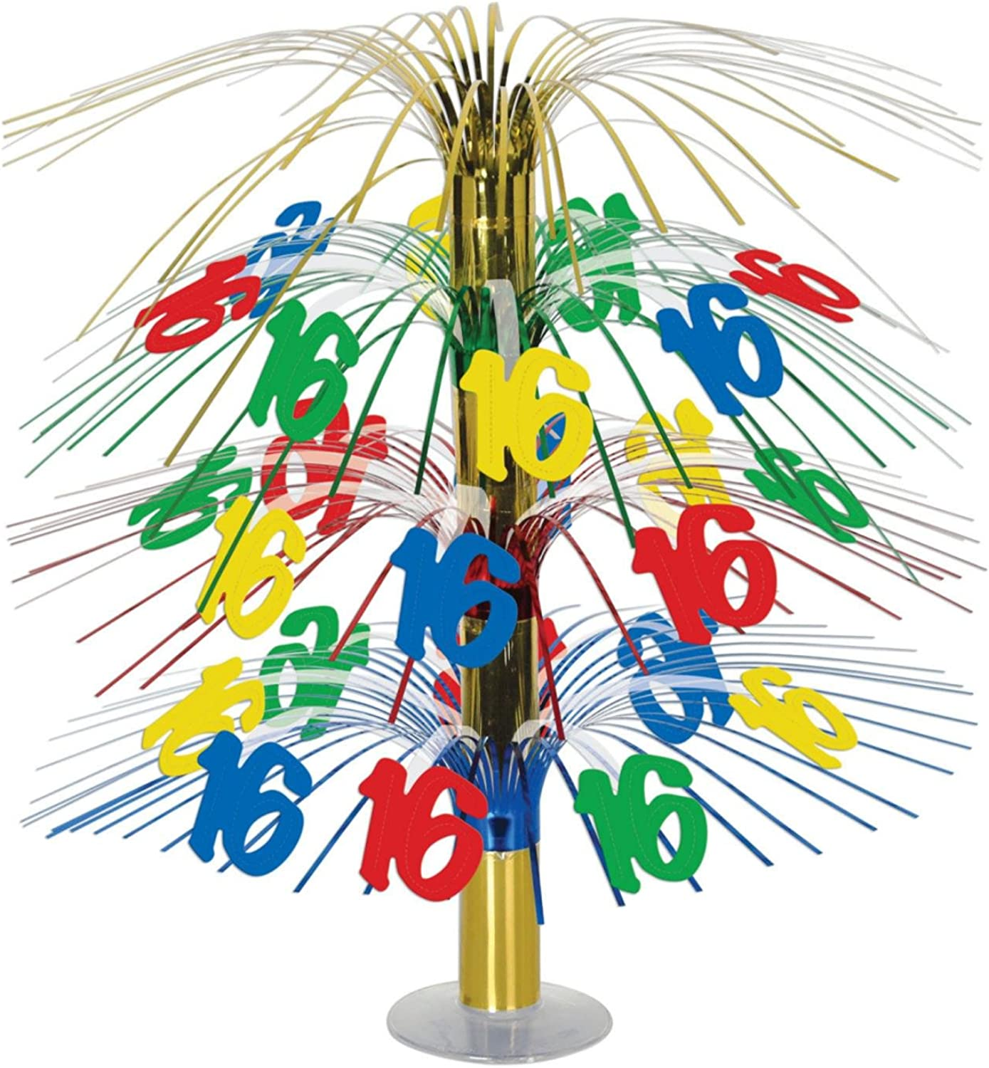 Pack of 6 Multicolor Happy 16th  Birthday Party Cascading Table Centerpieces 18
