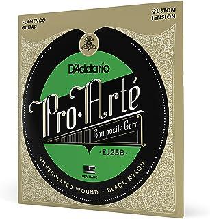 D'Addario Pro-Arte EJ25B Cordes en nylon composite pour guitare flamenco Noir