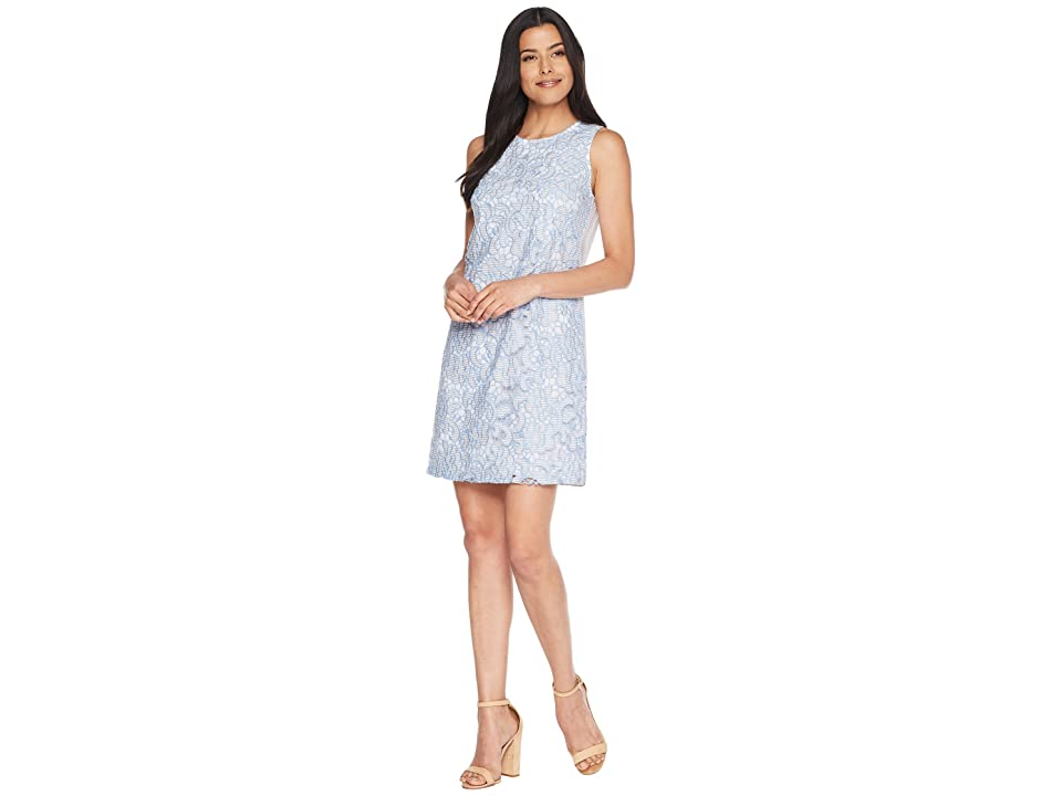 CeCe Sleeveless Lace Sheath Dress (Bluebird) Women