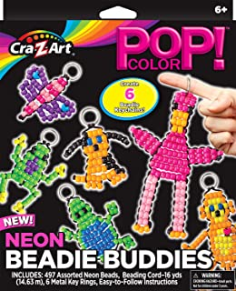 Cra-Z-Art Pop Color Neon Beadie Buddies Medium Box