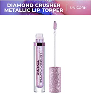 Lime Crime Diamond Crushers Iridescent Liquid Lip Topper, Unicorn - Lavender Rainbow - Strawberry Scent - Enhances Mattes - For Face And Body - Wear Alone Or Over Lipstick - Vegan