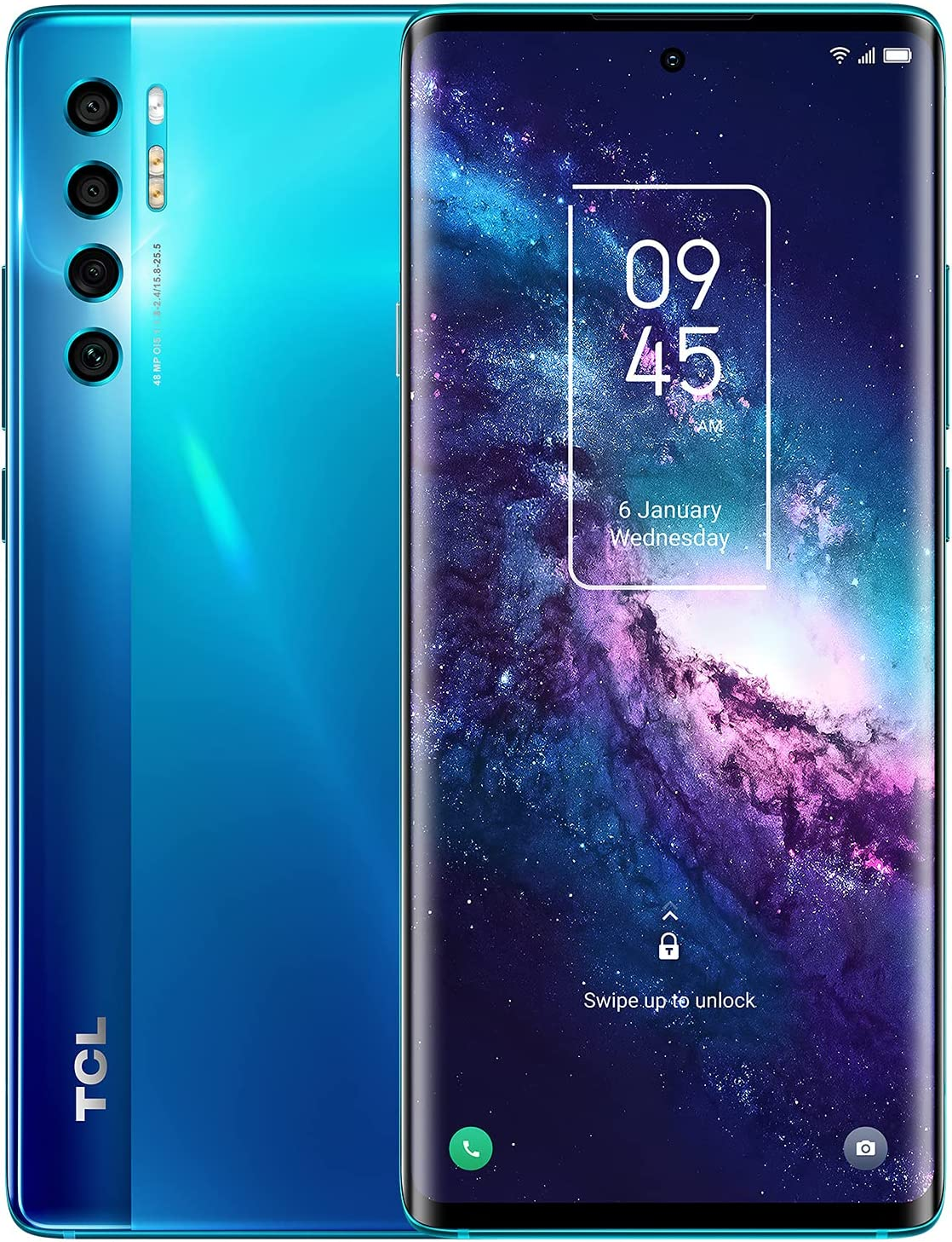 """TCL 20 Pro 5G Unlocked Android Smartphone with 6.67"""" AMOLED FHD+ Display, 48MP OIS Quad Rear Camera System, 6GB+256GB, 4500mAh Battery with Wireless Charging, US 5G Version Cellphone, Marine Blue"""