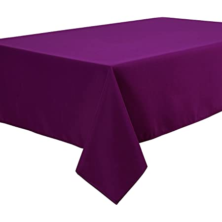 Home Direct Nappe Polyester Facile d'entretien Rectangulaire 140 x 200 cm Uni Violet