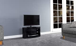 AVF Affinity Plus - Buckingham Plus 800 Oval TV Stand (Black/Black Glass)