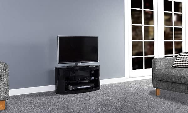 AVF Affinity Plus Buckingham Plus 800 Oval TV Stand Black Black Glass
