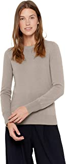 State Cashmere Essential Crewneck Sweater 100% Pure Cashmere Long Sleeve Pullover for Women