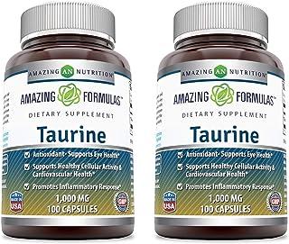 Amazing Formulas Taurine * 1000mg Pure L Taurine Amino Acid Supplement * 100 Capsules (Non-GMO)* Potent Antioxidant * Supp...