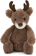 Jellycat Bashful Reindeer Stuffed Animal, Small, 7 inches