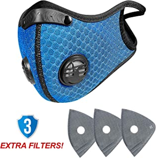 anqier Dust Mask,Newest Activated Carbon Dust Proof Pollution Respirator Fack Mask for Exhaust Gas Anti Pollen Allergy PM2.5 Running Cycling Outdoor Activities