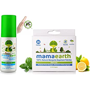 Mamaearth Baby Natural Mosquito Insect Repellent for Babies 24 Patches (100 ml) Combo