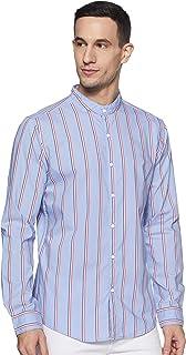 DIVERSE Men's Striped Slim fit Casual Shirt