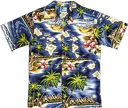 RJC Boy's Hibiscus Hawaiian Island Hawaiian Shirt