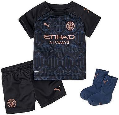 Puma Manchester City 2020/21 - Camiseta de fútbol, color negro