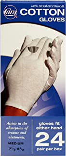 CARA Moisturizing Eczema Cotton Gloves, Medium, 24 Pair