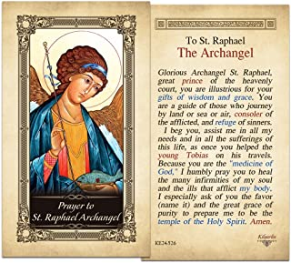 St. Raphael Archangel Laminated Holy Card - Pack of 10