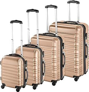 TecTake Set de 4 valises de Voyage de ABS avec Serrure à Combinaison intégrée | poignée télescopique | roulettes 360° - di...