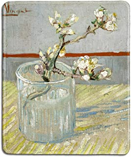 dealzEpic - Art Mousepad - Natural Rubber Mouse Pad with Famous Fine Art Painting of Sprig of Flowering Almond in a Glass ...