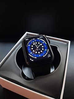 ساعة ذكية اي دبليو او، دبليو 26+ تحديث كامل مع شاشة كاملة بدقة 320 * 385 ومكالمات بلوتوث (لون اسود)