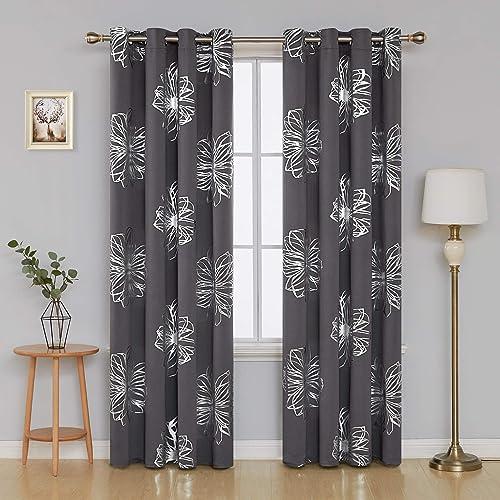 Vorhänge für Wohnzimmer mit Muster: Amazon.de