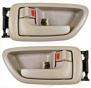 Interior Inside Door Handle Set of 4 Grey Left//Right F=R for Tundra Sequoia