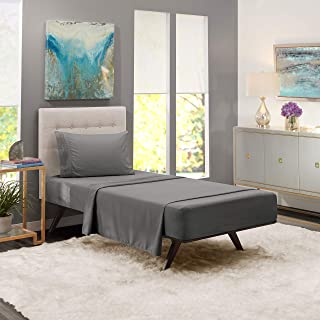 Twin Sheets - Bed Sheets Twin Size – Deep Pocket Hotel Sheets – Cool Sheets - Luxury 1800 Sheets Hotel Bedding Microfiber Sheets - Soft Sheets – Twin - Charcoal Stone Gray
