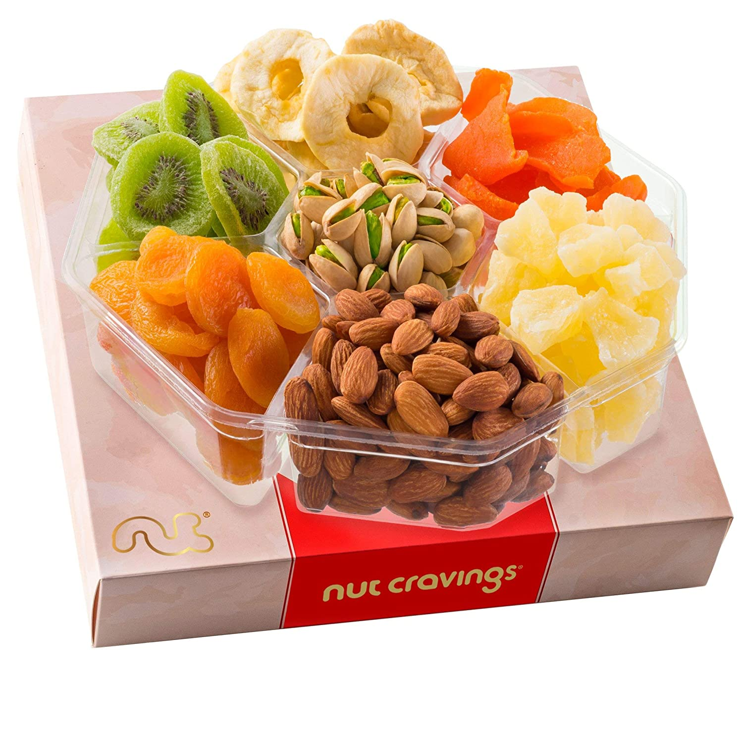 Dried Fruit Nut Max 64% OFF Gift Basket in 2 Piece Assortment Red ! Super beauty product restock quality top! 7 Box