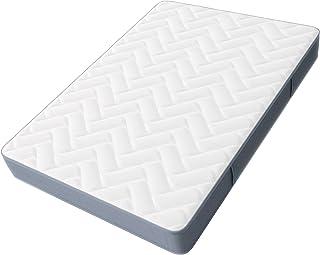 Hilding Sweden Ergo madrass i vit/ergonomisk madrass av 3-lagers komfortskum för alla sovtyper (H3-H4)/200 x 100 cm