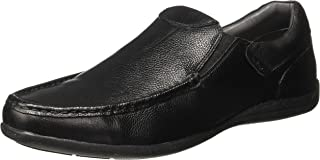 Lee Cooper Men's Lc1366dblack Leather Loafers