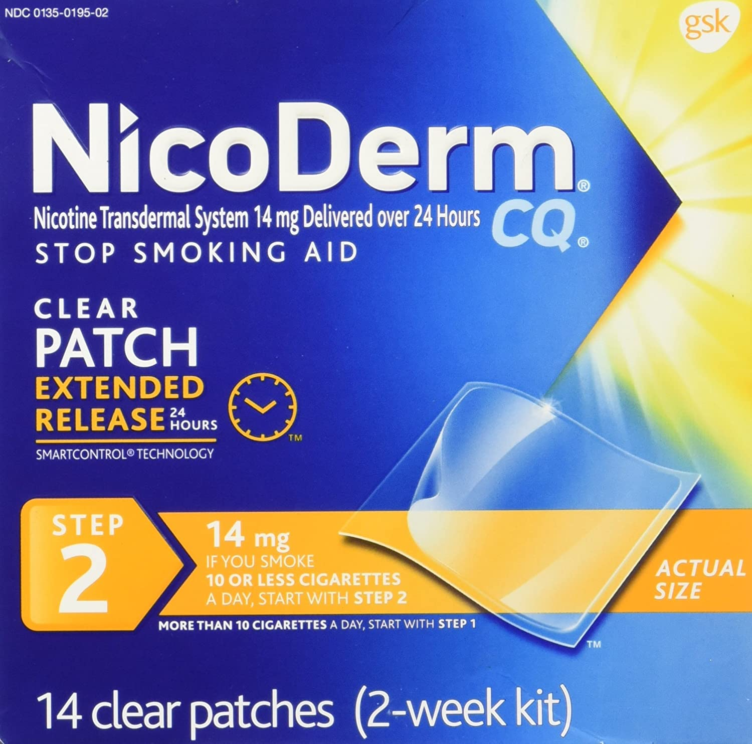 Nicoderm New color Clear Step2 14ct Size 14mg New Orleans Mall