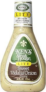 Ken's Lite Sweet Vidalia Onion Dressing 16 Oz (Pack of 3)