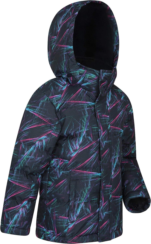 Pockets Ideal Childrens Winter Coat Hood Ripstop Fleece Lined Collar Mountain Warehouse Snow Padded Kids Jacket Water Resistant Adjustable Cuffs /& Hood
