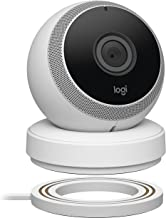 Logitech Circle Wireless HD Video Battery Powered Security Camera with 2-Way Talk, Works with Alexa (1 Pack, White)