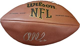 Andrew Luck Autographed Wilson NFL Football W/PROOF, Picture of Andrew Signing For Us, Indianapolis Colts, Stanford Cardinal