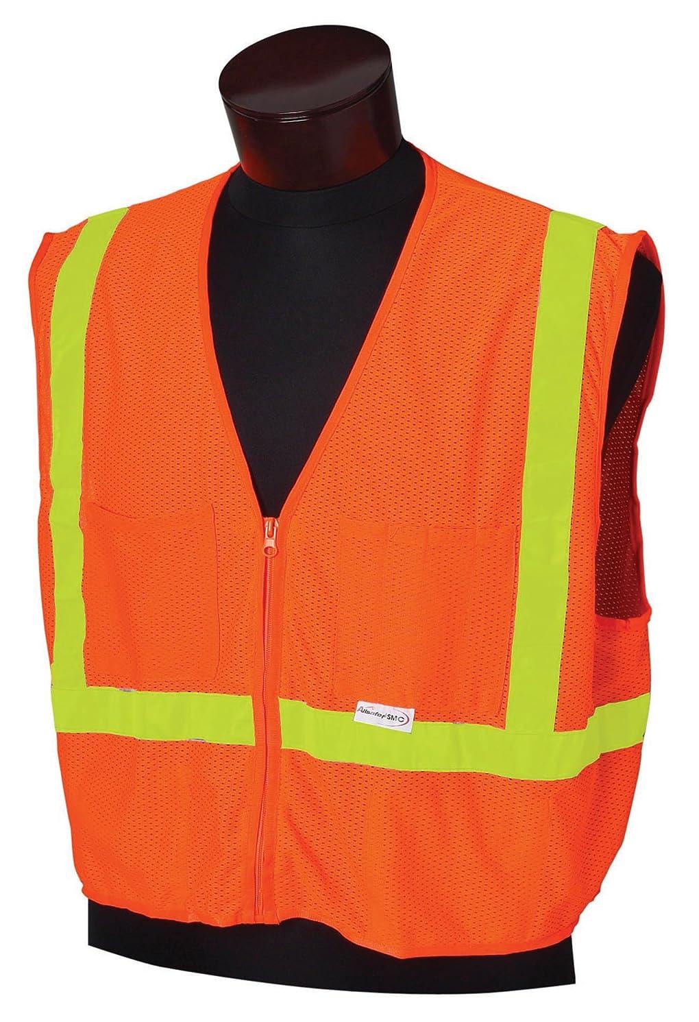 絶えずメロディアスサミットJackson Safety ANSI Class 1 Polyester Deluxe Style Safety Vest with Lime Prismatic by Jackson Safety
