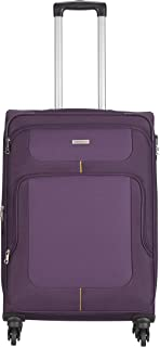 Aristocrat Polyester 81 cms Purple Suitcase (STCAMW81PPL)