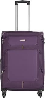 Aristocrat Polyester 81 cms Purple Suitcase (STCAMW81PPL)